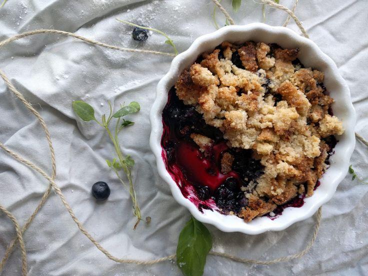 Enkel blåbärspaj i portionsform