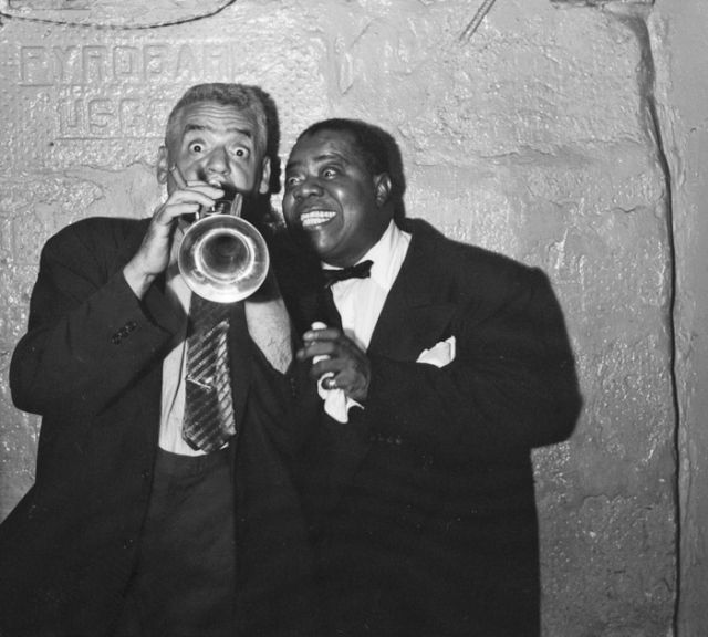 "Weegee, With ""Satchmo,"" Louis Armstrong, ca. 1953-1955 [20627.1993]"