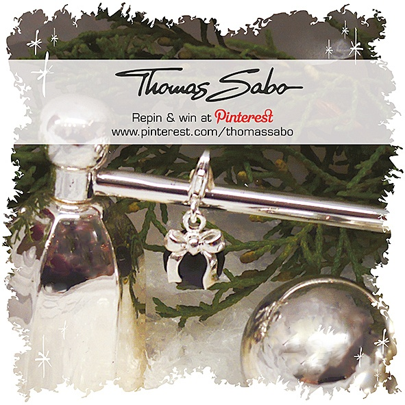One lucky winner will be drawn on December 14, 2012! Important: Your facebook or twitter account must be linked to your Pinterest profile! Terms and conditions: http://images.thomassabo.com/www/2/2012/11/TC-Pinterest-Xmas-Sweepstake.pdf