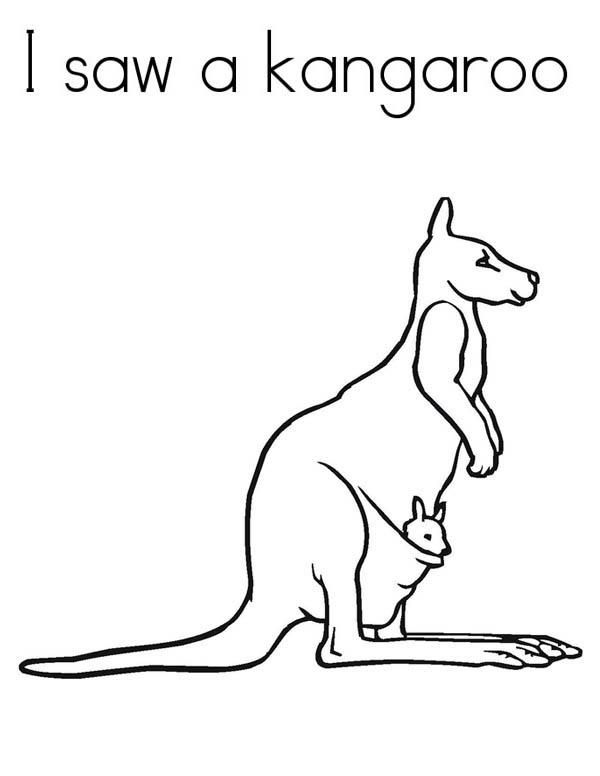 Kangaroo With Joey Coloring Pages Coloring Pages Giraffe