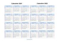 Calendrier 2021 2022 à imprimer gratuit en PDF et Excel