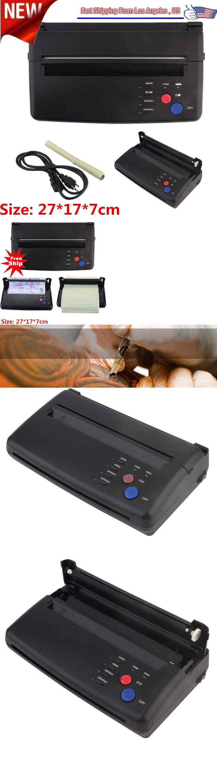 Tattoo Supplies: Newest A5 A4 Tattoo Transfer Copier Printer Machine Thermal Stencil Maker Usa My BUY IT NOW ONLY: $111.09