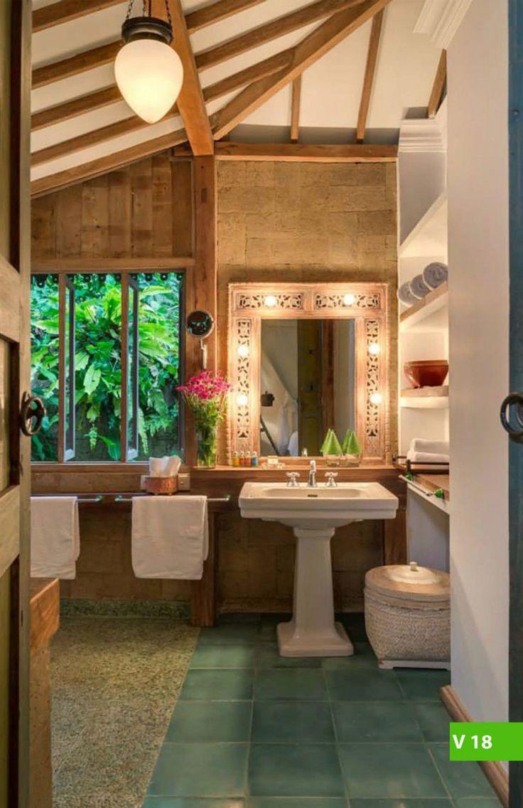 Tropical | Bathoom | Puri Sayan | Bali | Skylight Architecture
