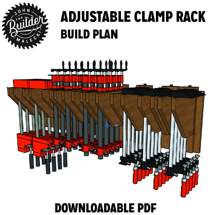 DIY Woodworking Ideas Clamp Rack Plan. #woodworking #diy #Furniture #Woodworkingtools #Woodworkingplan...