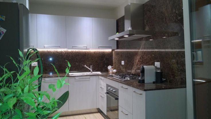 Image result for marron emperador kitchen