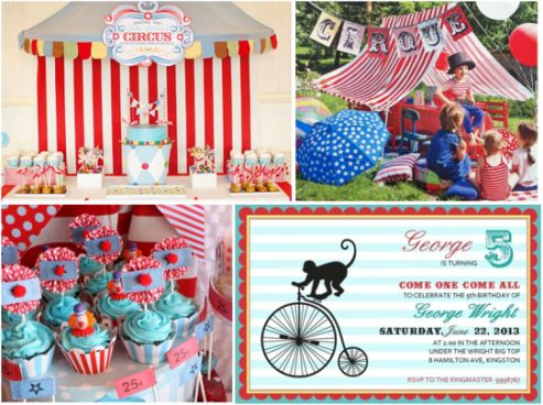 We are loving the 'circus/carnival' theme for a birthday party, which seems to be ever so popular. We have the perfect little invite for it. Check out our 'Circus boy' invite on our website. www.inkiminki.co.nz