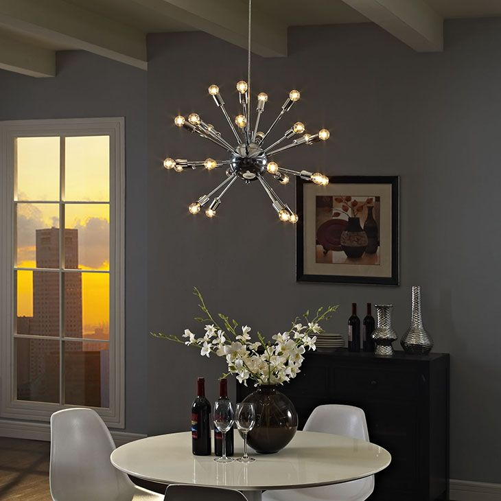 GAMUT CHANDELIER IN SILVER Center Your Focus With A Blaze Of Light Designed To Illuminate Spacious Contemporary ChandelierChandeliers