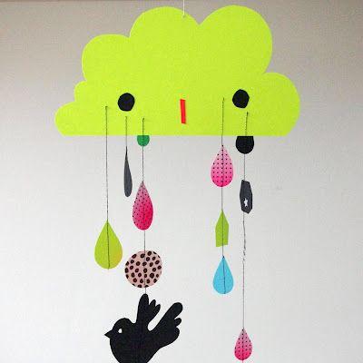 i ♥ the rain Cloud Mobile Paper | Creme de la Krea