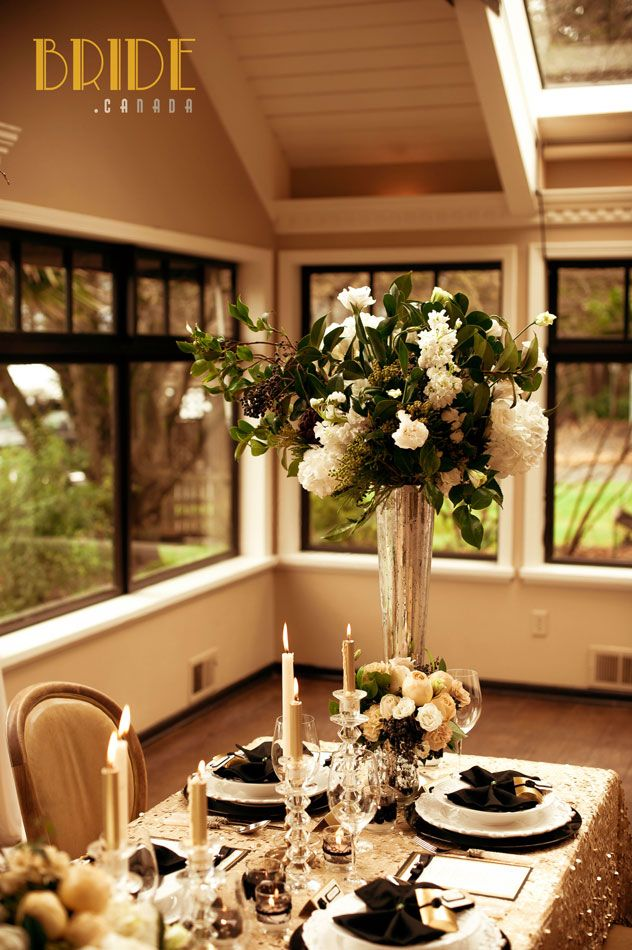 Glamorous wedding flowers by Celsia Florist in Vancouver, BC