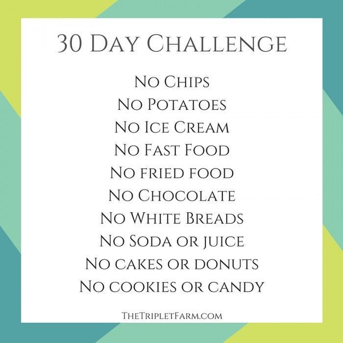 30 Day No Eating Challenge The Triplet Farm thetripletfarm.com