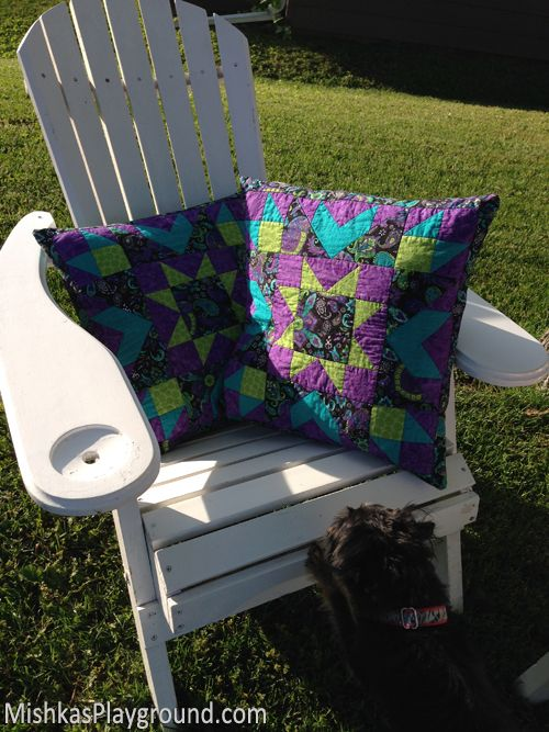Pattern sale .. my Star Explosion Pillows would make wonderful Christmas gifts for your family members. Details here: http://mishkasplayground.com/quilt-patterns/star-explosion-pillow/