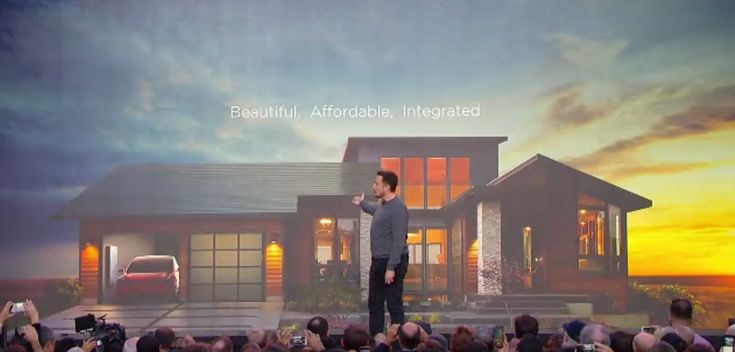 Elon Musk just unveiled Tesla's solar roof and new Tesla Energy products (TSLA SCTY)