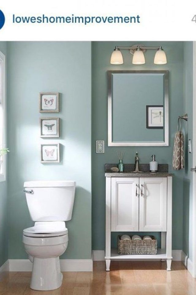5 Bathroom Color Ideas Sherwin Williams Worn Turquoise Nice Color For A Guest In 2020 Best Bathroom Paint Colors Best Bathroom Colors Bathroom Colour Schemes Small