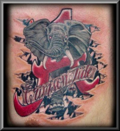 Alabama Football Fan Tattoos Nov.