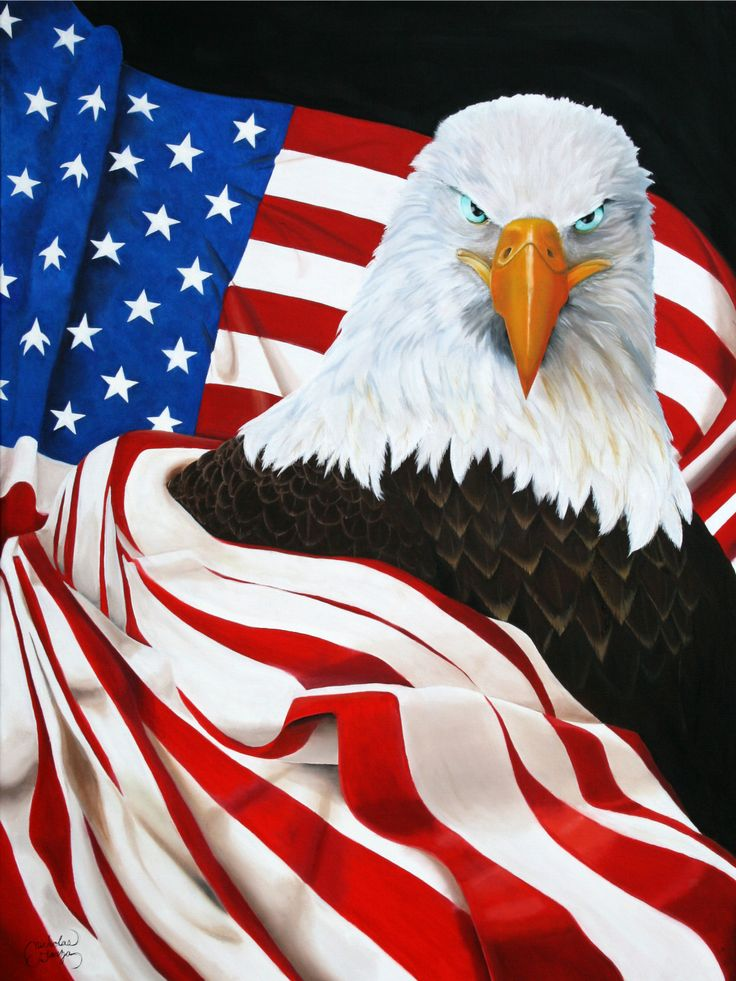 Fashion week States United flag with eagle for girls
