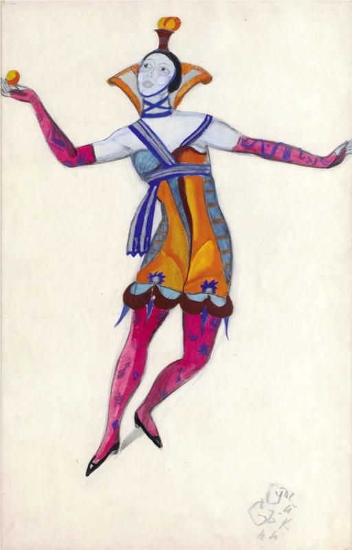 "Costume design for ""Venetian madmen"" - Colombina - Serge Sudeikin (1915)"