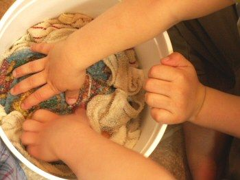 No more smelly dishcloths !! Soak in vinigar for 5-10 minutes before throwing into the washer on hot.