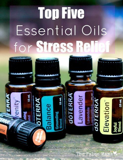 Top 5 Essential Oils for Stress Relief www.thepaleomama.com