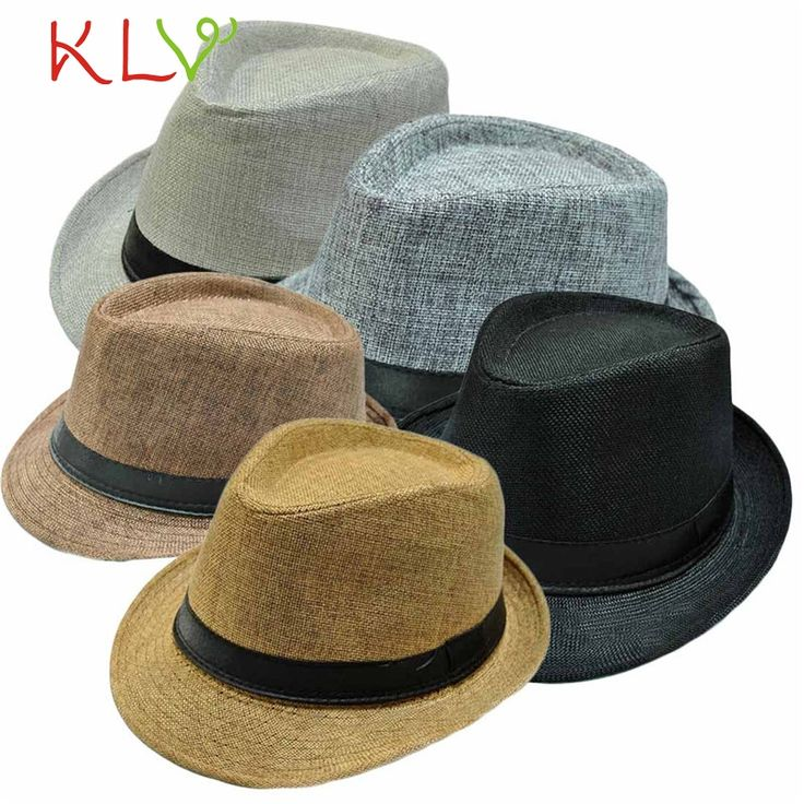 2017 Summer Autumn 5 Colors Fashion Unisex Beach Formal Hat Trilby Gangster Straw Jazz Cap for adults Bestselling #women, #men, #hats, #watches, #belts, #fashion, #style