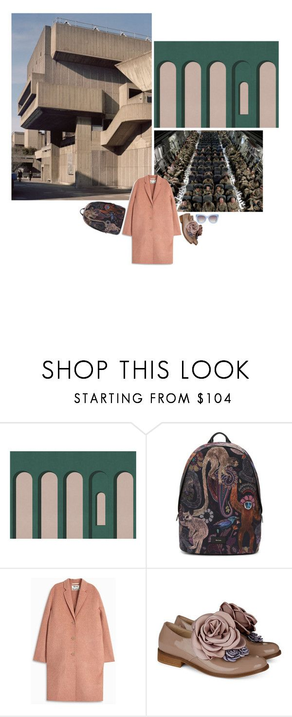"""""""(11)"""" by zae213 ❤ liked on Polyvore featuring Texturae, National Geographic Home, Paul Smith, Acne Studios, Pokemaoke, Alice + Olivia, dress, shoes, coat and backpacklife"""