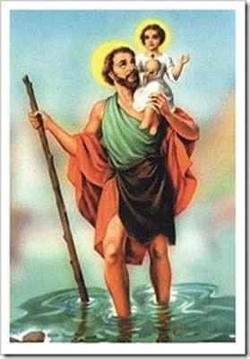 São Cristóvão é o padroeiro dos viajantes e dos transportadores. Filho de um rei em Canaã, terra de pagãos, recebeu o nome de Reprobus. Quando cresceu tornou-se um homem muito alto e forte.  dizia ser o próprio satanás.