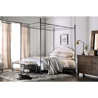 Furniture of America Karis Arched Upholstered Metal Canopy Bed  Cal King    Grey  Size California King. Best 25  Metal canopy bed ideas on Pinterest   Metal canopy