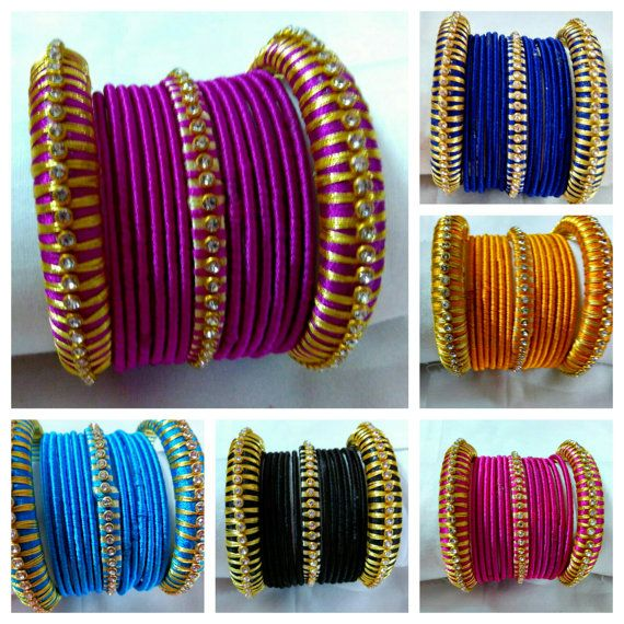 Silk Thread Bangles - Handmade Jewellery - Silk Thread woven Bangles - Available…