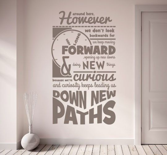 Walt disney quote wall decal home decals by homedecalsuk for Wall mural quotes