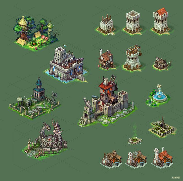 Buildings for game 2 by Jonik9i.deviantart.com on @deviantART