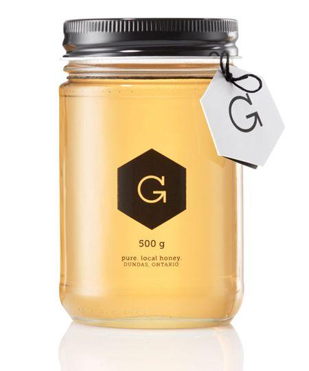 Simple. #honey #packaging #design #jar #brand #identity #package
