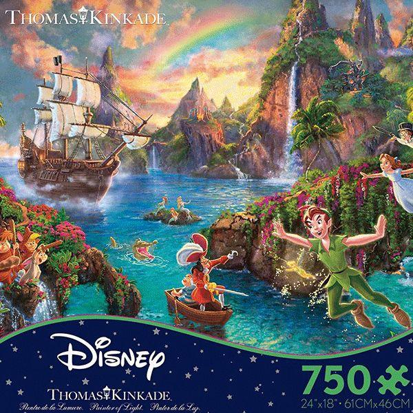 Ceaco Disney Peter Pan 750 Piece Puzzle Thomas kinkade