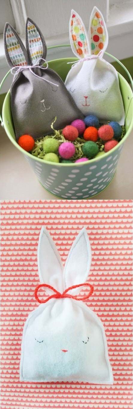 What beautiful Easter baskets!: Candy Pouch, Beautiful Easter, Summer Spr Ideas, Baskets Galor, Springtim Favorite, Christmas Ideas, Crafts, Bunnies Pouch, Bunnies Candy