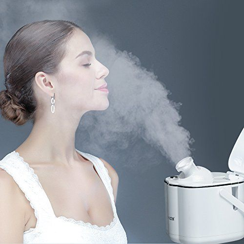 K-SKIN Nano Ionic Facial Steamer Micro Hot Mist with Adjustable Nozzle, Dust-proof Lid and HD Mirror (Snow White). For product & price info go to:  https://beautyworld.today/products/k-skin-nano-ionic-facial-steamer-micro-hot-mist-with-adjustable-nozzle-dust-proof-lid-and-hd-mirror-snow-white/
