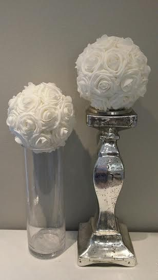 Luxury elegant foam roses pomander flower ball by