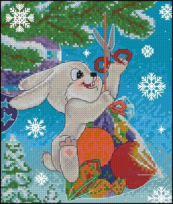 Советские новогодние открытки вышивки
