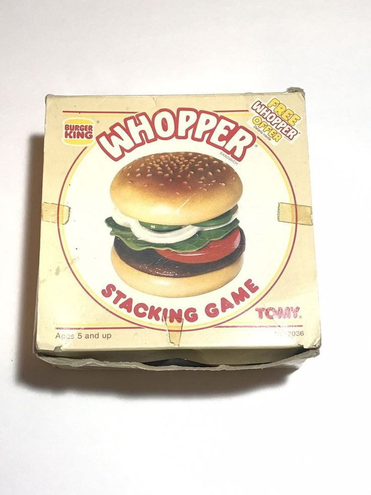 Burger King Whopper Burger Stacking Game Tomy Vintage 1984