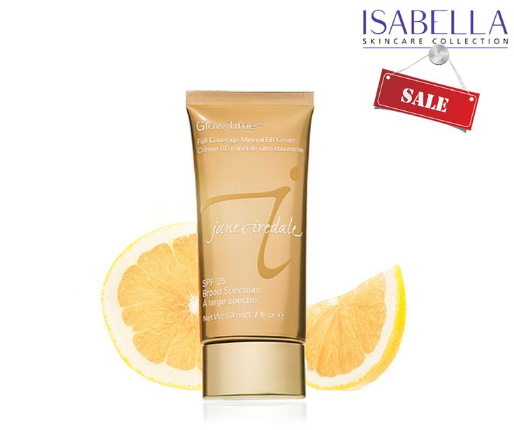 SALE... Jane Iredale Glow Time™ Full Coverage Mineral BB Cream Glow Time covers blemishes, minimizes pores, disguises wrinkles and smoothes and brightens skin. Now only £27.95  ‪#‎skincare‬ ‪#‎isabella‬ ‪#‎cleansingoil‬ ‪#‎daycream‬ ‪#‎toner‬ ‪#‎nightcream‬ ww.isabellaskincarecollection.com
