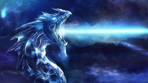 Preview wallpaper dragon, mouth, night, light 1920x1080