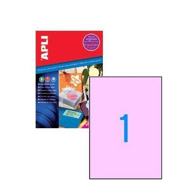 ETIQUETAS ADHESIVAS A-4 COLOR ROSA PASTEL210x297MM Etiquetas color rosa pastel permanentes con cantos rectos. Tamaño 210x297mm. Para impresoras Inkjet, Láser y Fotocopiadoras. 20 hojas A4 20 etiquetas.
