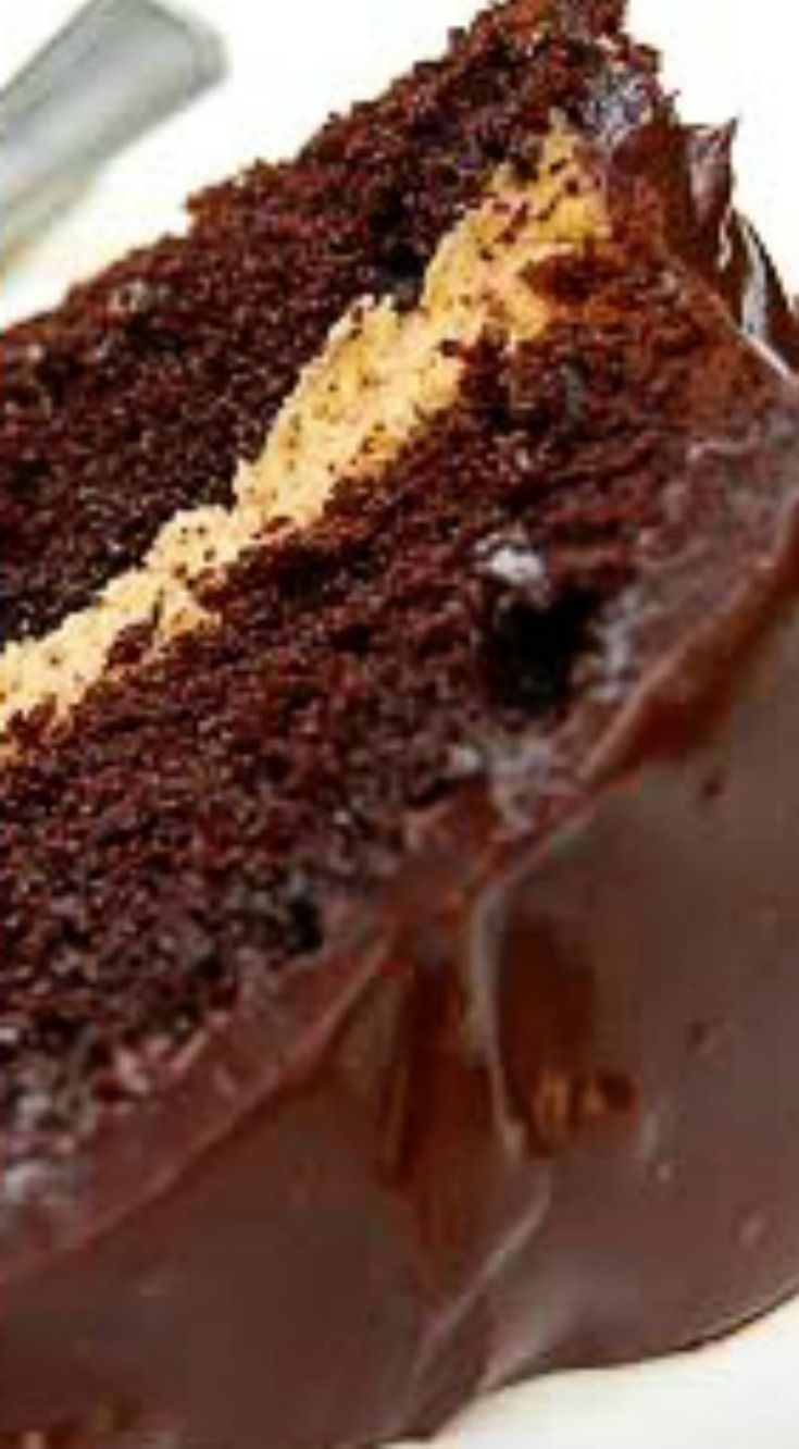 Buckeye Peanut Butter-Fudge Cake ~ It will knock your socks off!