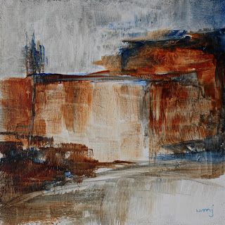 umj art: 2016-03-27 #503 Wailing Wall Acrylic on board, 15x...
