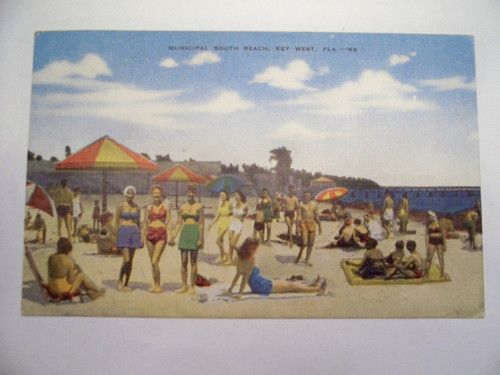 Vintage Postcard Key West Florida South Beach