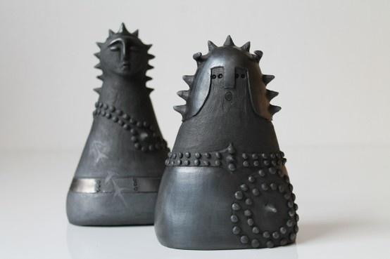 Guerrieri (warriors) in ceramica