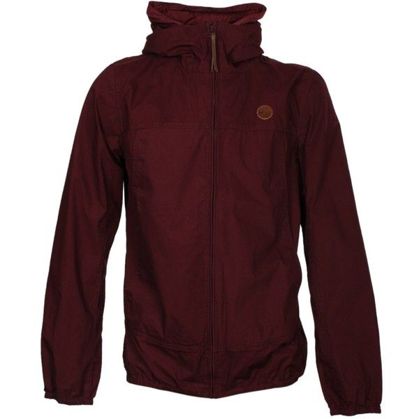 Pretty Green Burgundy Festival Jacket ($125) ❤ liked on Polyvore featuring outerwear, jackets, red jacket, burgundy jacket, pretty green jacket y pretty green