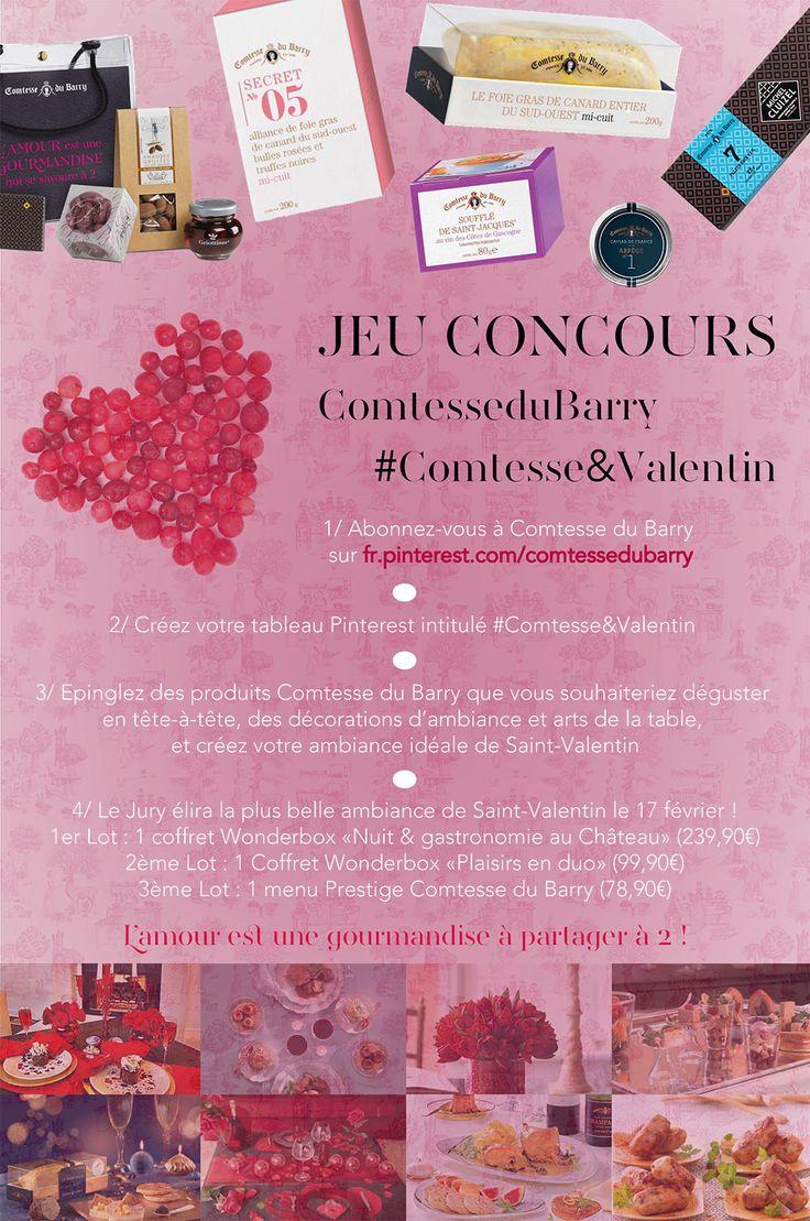 Jeu Concours de St-Valentin : créez votre tableau Comtesse&Valentin et tentez de remporter l'un de nos cadeaux pour un tête à gourmand !