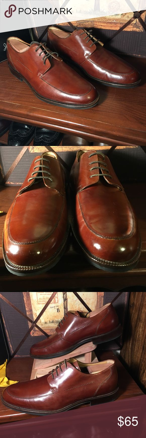 Johnston and Murphy signature series These were a floor model shoe. Never for sale, the leather is in great condition, leather seems to be a creased and cracked around the toe.  Please always ask if you need to. Johnston & Murphy Shoes Oxfords & Derbys