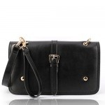 Mia Black Leather Handbag $189.95 FREE SHIPPING WITHIN AUSTRALIA available online at sterlingandhyde.com.au