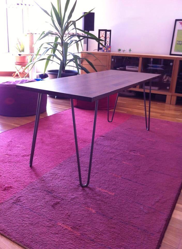 DIY Table basse avec hairpin legs
