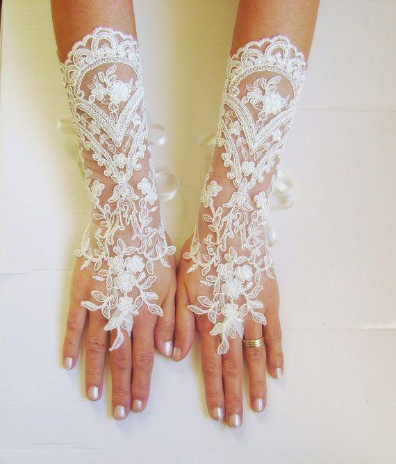Lange Elfenbein Hochzeit Handschuhe Braut Handschuhe