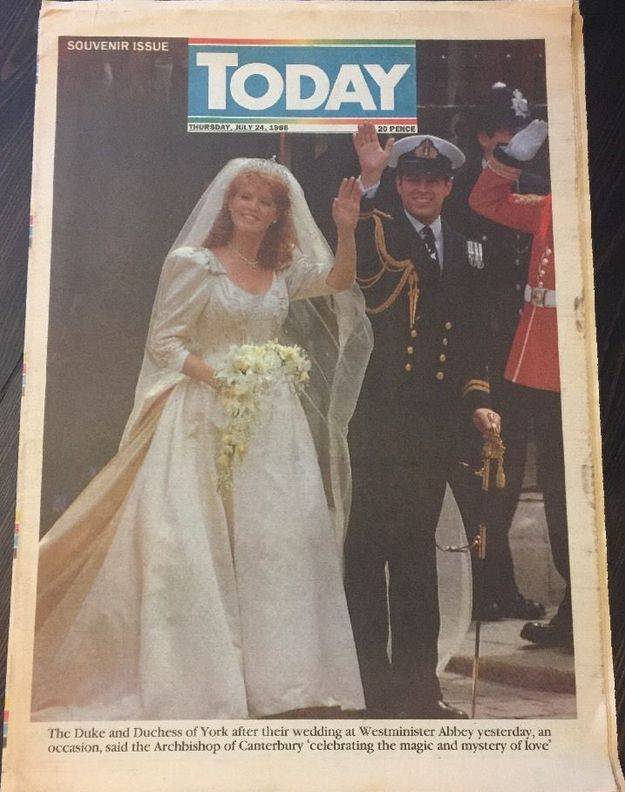Today Newspaper March 1986 Engagement Special Prince Andrew Sarah Fergie